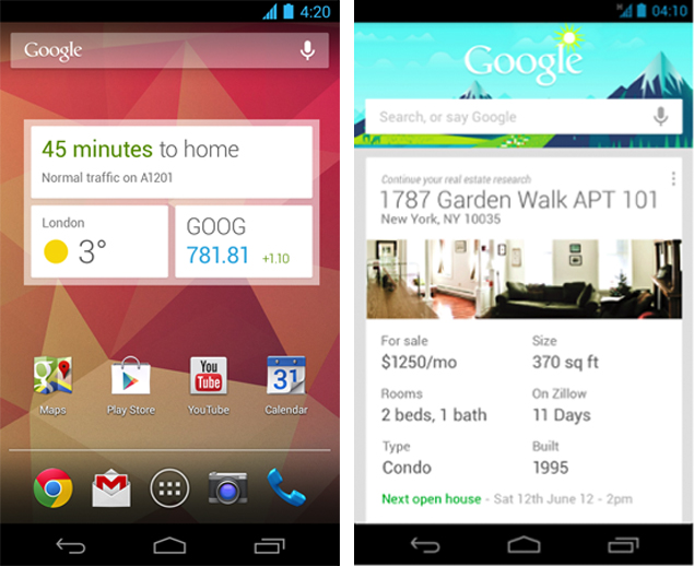 Google Search app for Android updated with Google Now widget and new cards