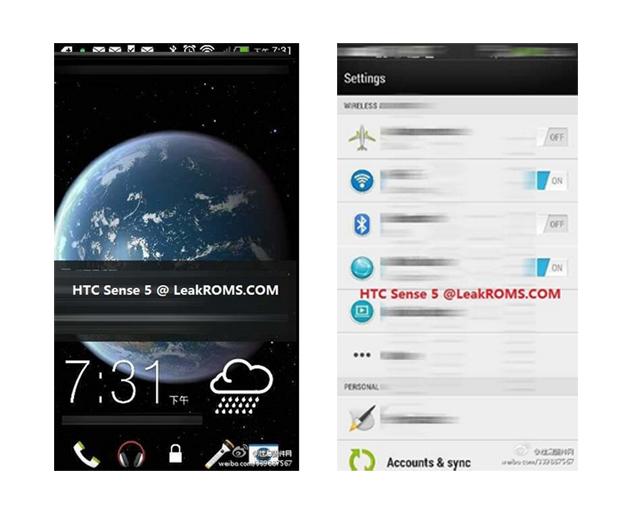 Alleged screenshots of HTC M7 running Sense 5.0 leak online