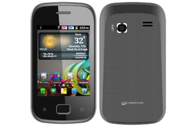 Micromax launches A25 Smarty Android phone for Rs. 3,999