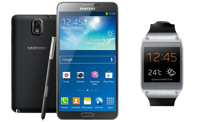 Samsung Galaxy Note 3 and Galaxy Gear smartwatch India ...