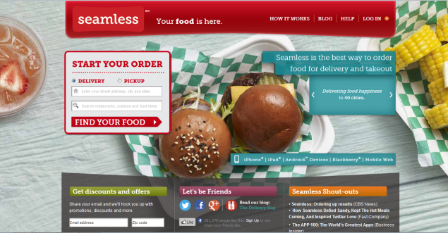 Online takeout companies GrubHub and Seamless to merge operations