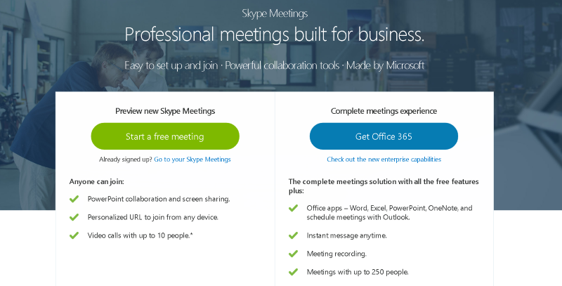 Microsoft Launches Web-Based Skype Meetings for Small
