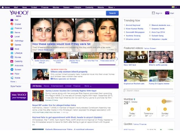 b604cf0ff150db Yahoo India launches a redesigned homepage, wants to become a daily habit