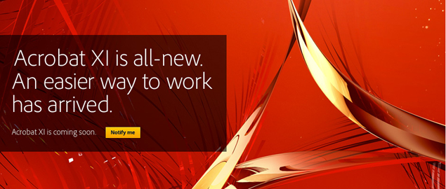 Adobe Unveils Next Gen Acrobat Xi With Pdf Editing Starting Rs