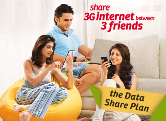 Airtel launches new 3G plan that can be shared between 3 devices