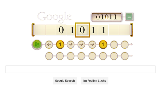 Alan Turing's 100th birthday marked by Google doodle