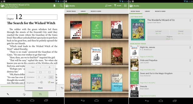Five great apps for reading ebooks ndtv gadgets360 thisapp is available for android tablets and phones and is free its one of the more popular ebook apps for a number of reasons fandeluxe Image collections