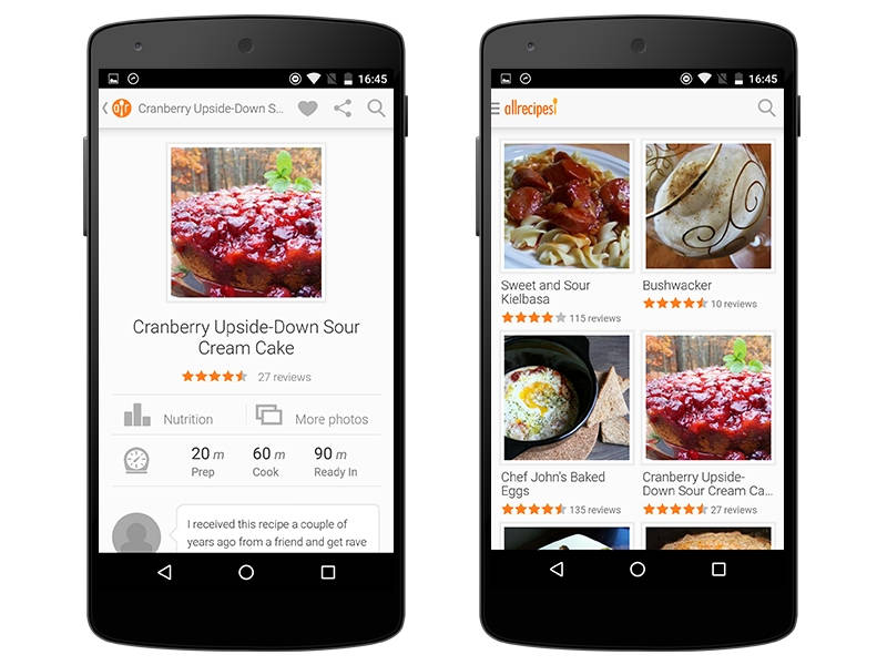 Best food apps for iphone ipad and android devices recipes and allrecipesdinnerappg forumfinder Images