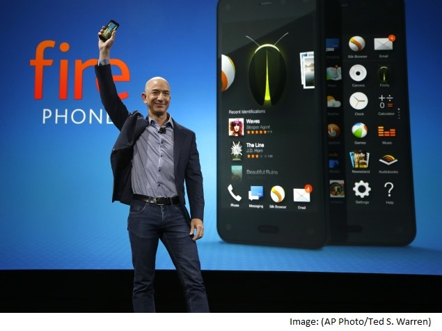 Amazon Fire Phone With 3D Dynamic Perspective and Firefly Button Launched