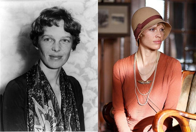 Amelia Earhart - from real to 'reel' life
