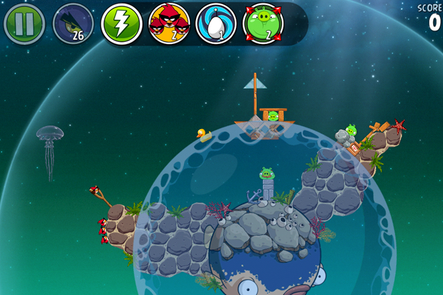 Angry Birds Space update splashes underwater with new Pig