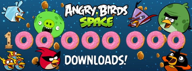 100 million downloads for Angry Birds Space in just 76 days