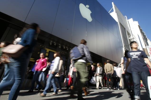 Apple stock down 40 percent from September's high