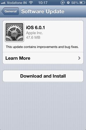 Apple iOS 6.0.1 brings iPhone 5 OTA updates, Wi-Fi bug fixes and more