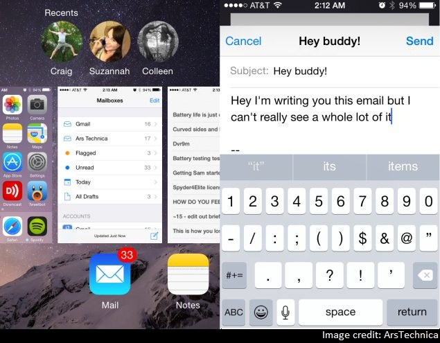 iOS 8 on iPhone 4S: Slow Performance, Cramped Screen
