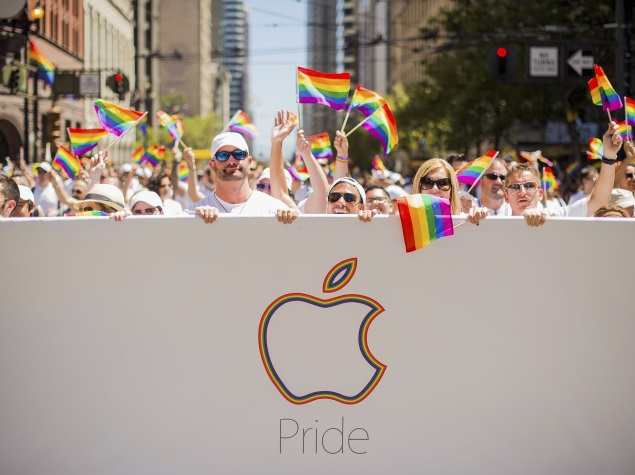 Apple pride parade