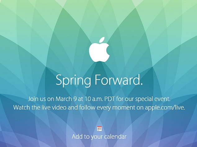 Apple Watch Set to Be Launched at Firm's 'Spring Forward' March 9 Event