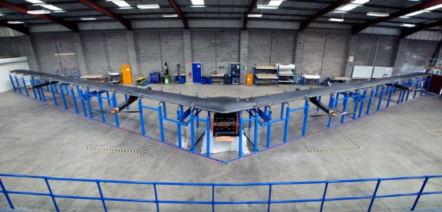 Facebook Prepares to Test Giant Internet-Beaming Drone