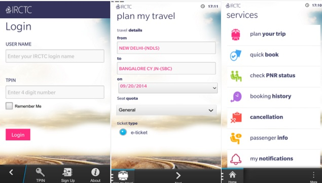 IRCTC Launches Ticket Booking App for BlackBerry 10