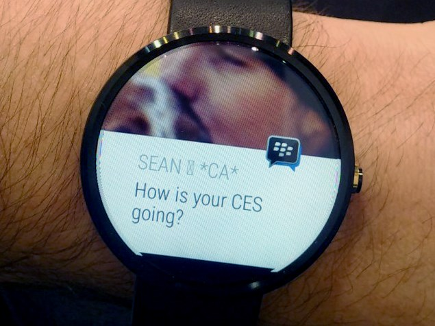 BlackBerry Announces BBM for Android Wear at CES 2015