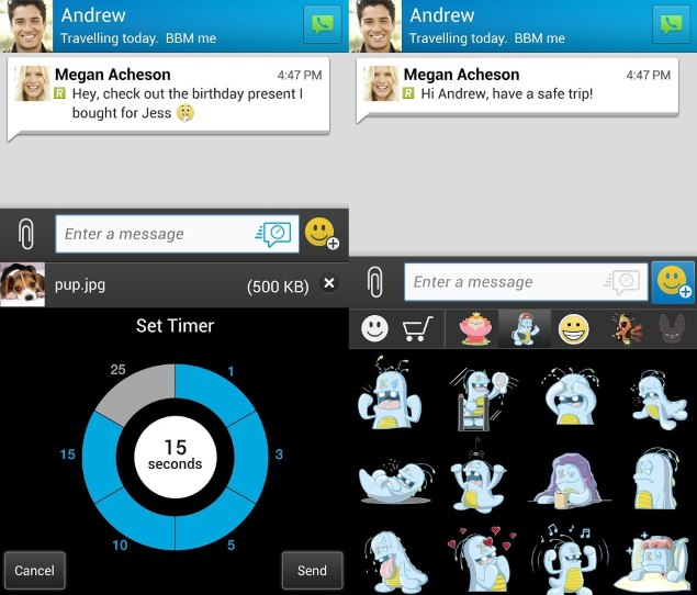 BBM Adds Support for Timed Messages and Message Retraction