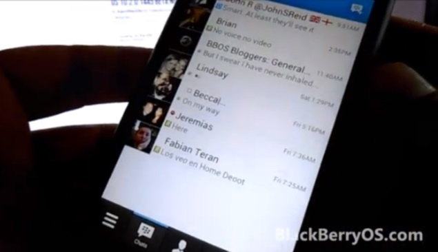 BlackBerry Messenger for Android walkthrough video appears online