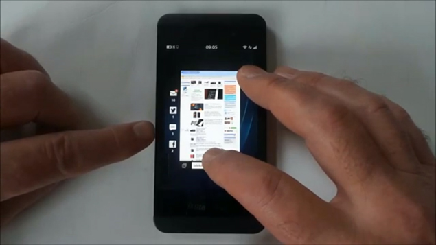 BlackBerry Z10 spotted in an online hands-on video again