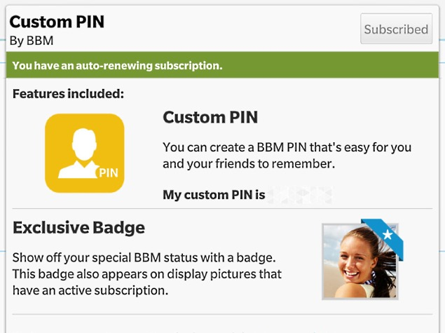 BBM Updated With Android Wear Support, Ad-Free and Custom Pin Subscriptions