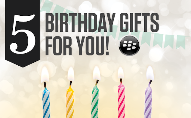 BlackBerry World celebrates fifth birthday with five free apps and games
