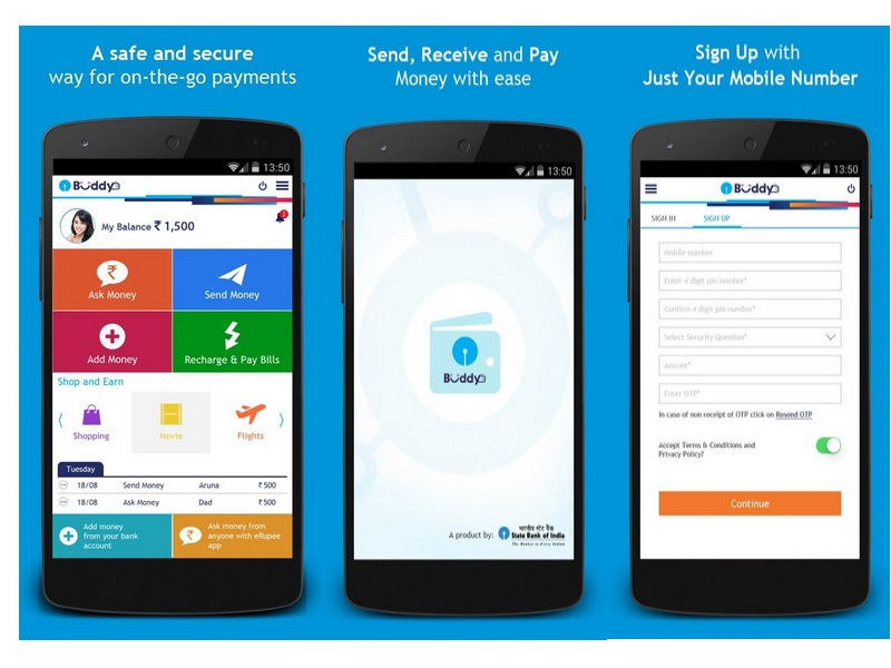 Sbi launches 39 buddy 39 mobile wallet app for android for Best house design app for android