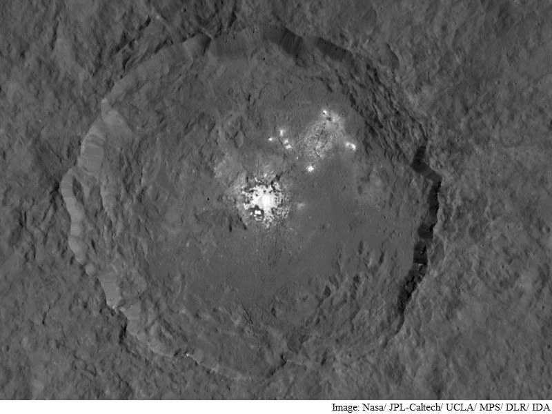 Nasa Dawn Probe Reveals Bright Spots on Dwarf Planet Ceres