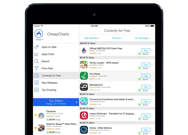 CheapCharts Can Now Help You Save Money on iPhone and iPad Apps