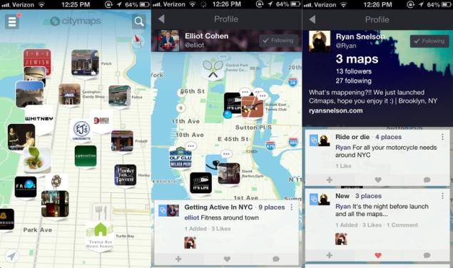 Citymaps aims to make maps social