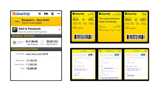 Cleartrip brings air, rail and bus tickets to Apple's Passbook