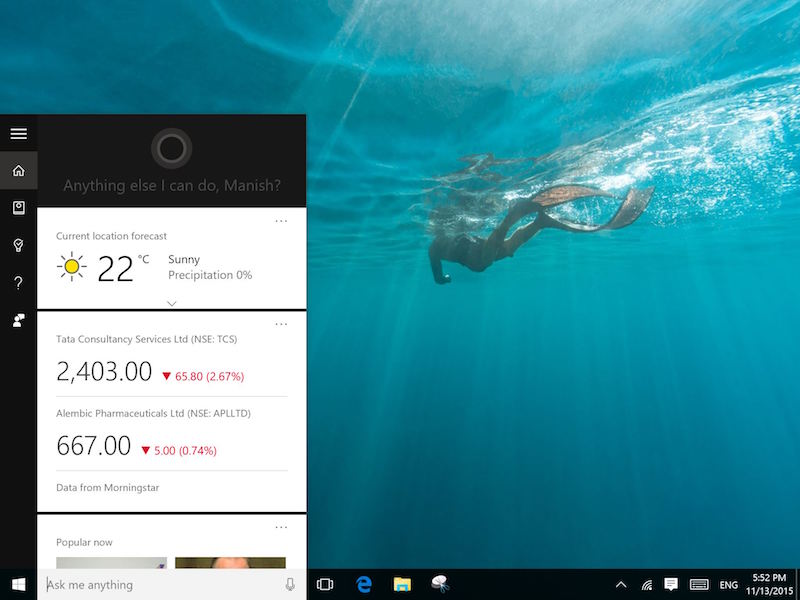 Microsoft Cortana Now Available in India With Indian Voice, Accent Support