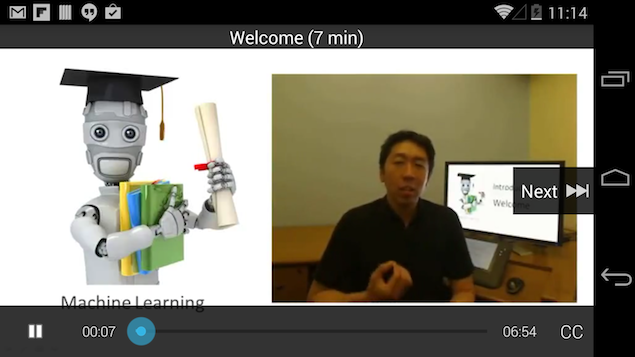 Coursera online education provider releases Android app