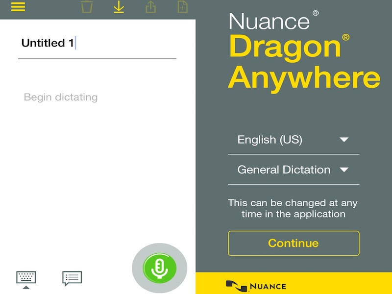 Nuance Dragon Anywhere Dictation App Launched for iOS