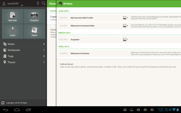 Evernote for Android tablets brings new UI and swipe ...