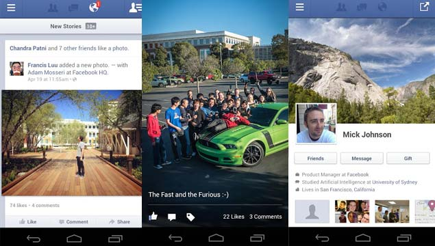 Facebook goes the native route with new Android app