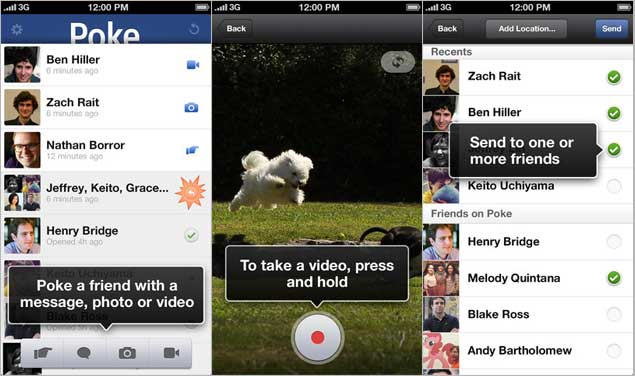 Facebook releases Poke iPhone app with self-destructing messages