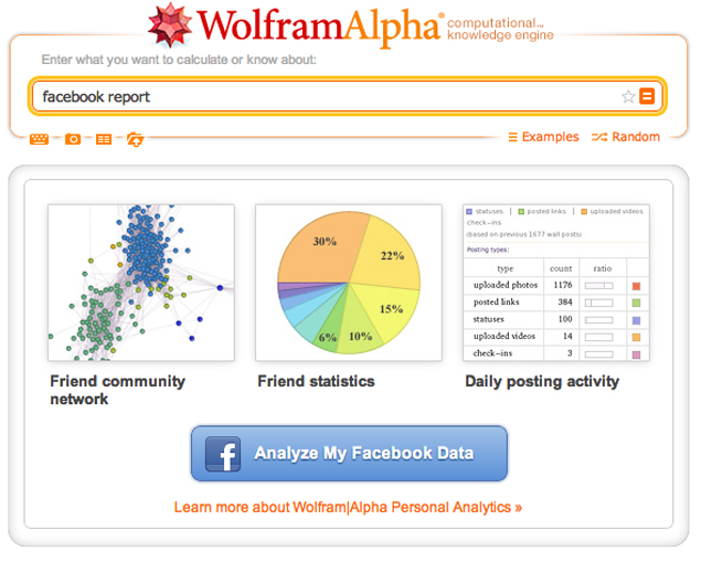 Wolfram Alpha now lets Facebook users analyse their personal data