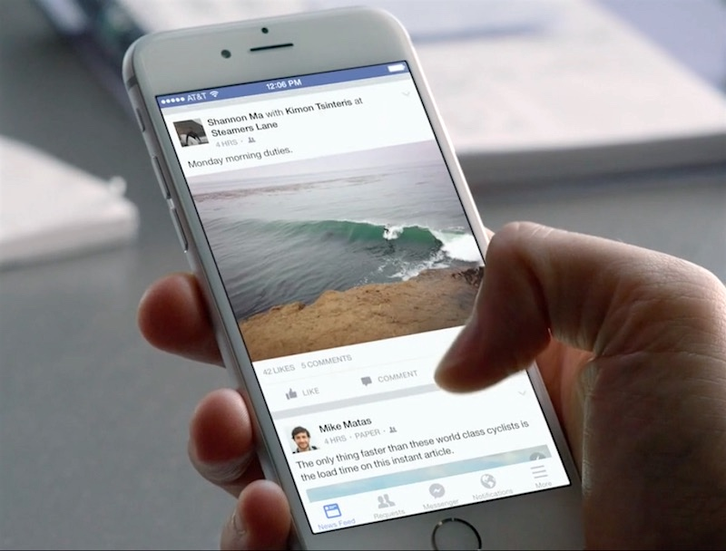 Facebook for iPhone a Resource Hog, Removal Boosts Battery Life: Report