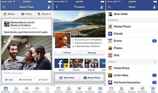 updated version of facebook