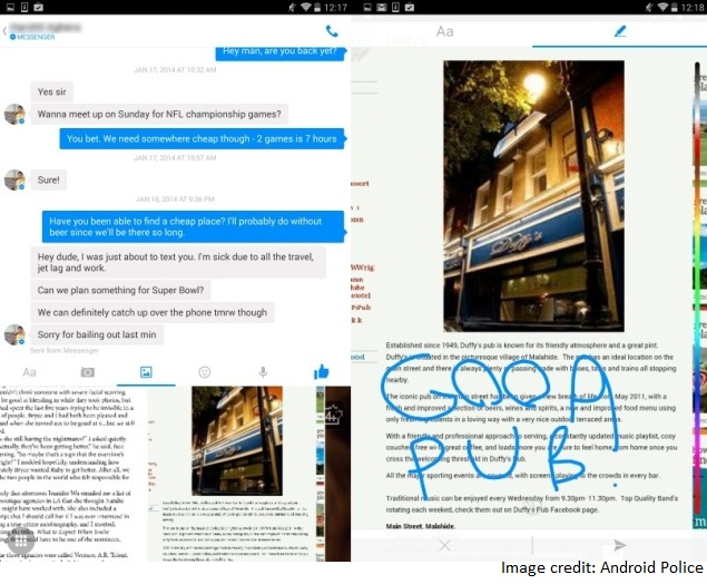 Facebook Messenger for Android Update Lets Users Draw, Type
