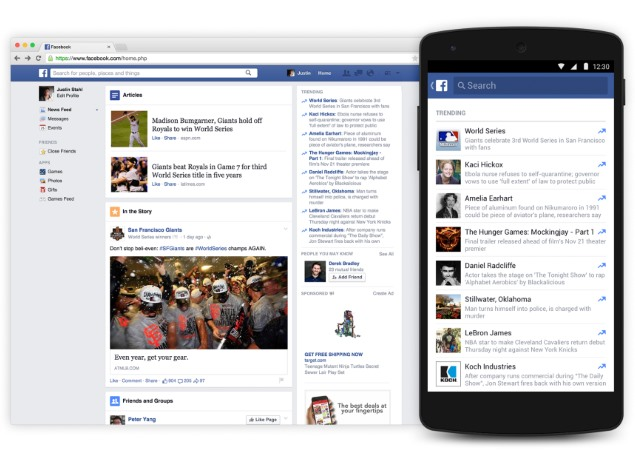 Facebook's Trending Topics Section Revamped, Comes to Android