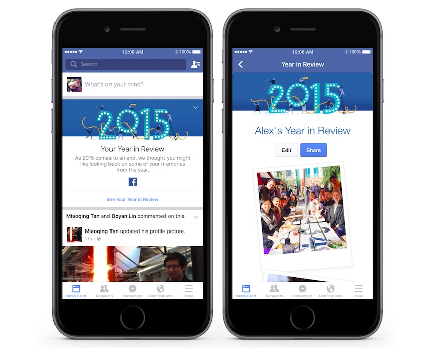Facebook 2015 Year in Review Takes Precautions to Filter Bad Memories