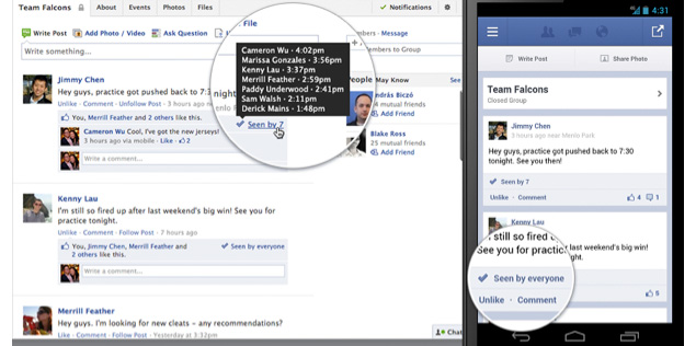 Facebook redesigns Events, adds read receipts to Groups