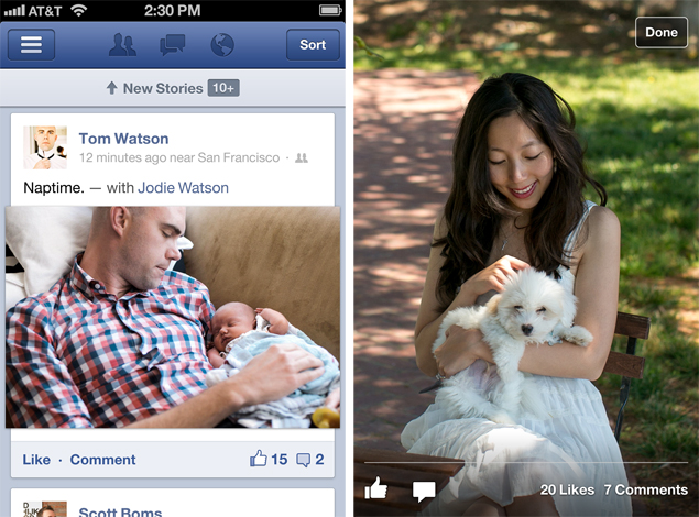 Revamped Facebook app for iOS: Review