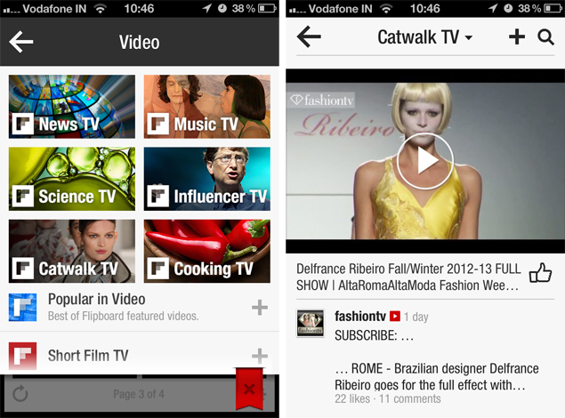 Flipboard scores 20 million users, adds curated videos
