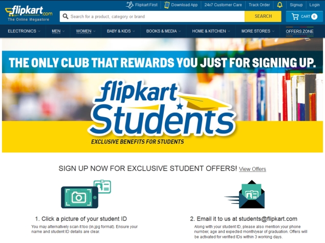 Flipkart Students Scheme Launched With 'Exclusive Benefits for Students'